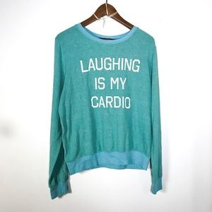 WILDFOX • Laughing Is My Cardio Sweater | Large